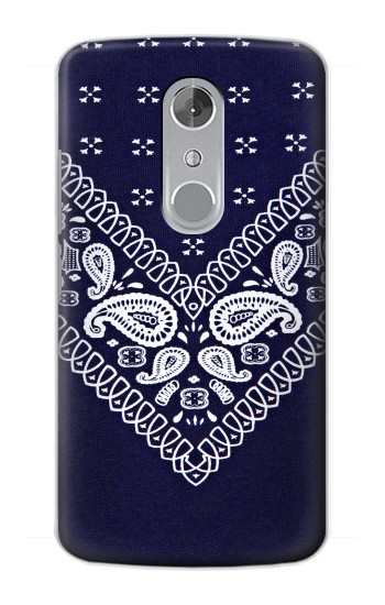 Printed Navy Blue Bandana Pattern ZTE Axon mini Case