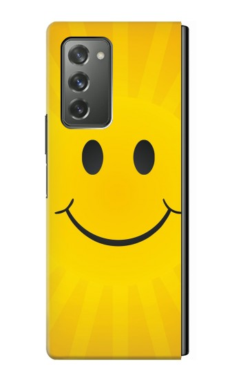 Printed Yellow Sun Smile Samsung Galaxy Z Fold2 5G Case