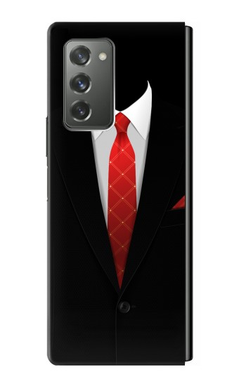 Printed Black Suit Samsung Galaxy Z Fold2 5G Case