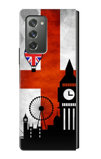 Printed England Football Flag Samsung Galaxy Z Fold2 5G Case