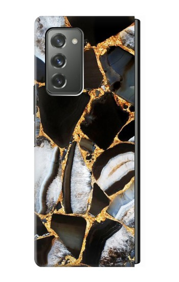 Printed Gold Marble Graphic Print Samsung Galaxy Z Fold2 5G Case