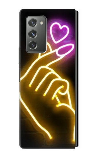 Printed Cute Mini Heart Neon Graphic Samsung Galaxy Z Fold2 5G Case