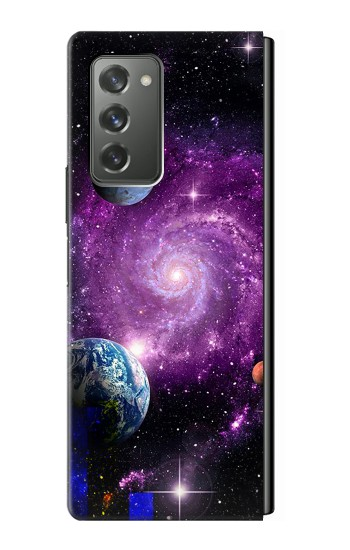 Printed Galaxy Outer Space Planet Samsung Galaxy Z Fold2 5G Case