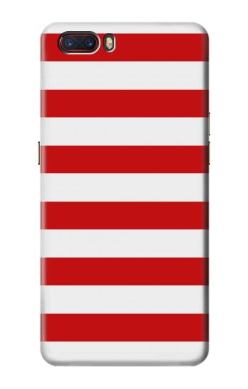 Printed Red and White Striped ZTE nubia M2 Case