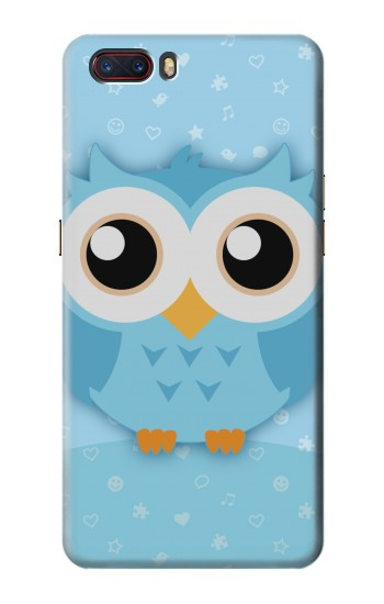 Printed Cute Blue Owl ZTE nubia M2 Case